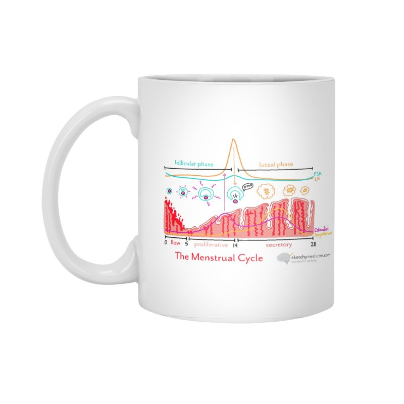 Menstrual Cycle Accessories Standard Mug by Sketchy Medicine Shop