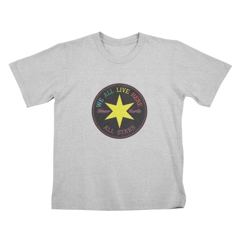 we all live here at Skinner North Kids T-Shirt by SuperStore
