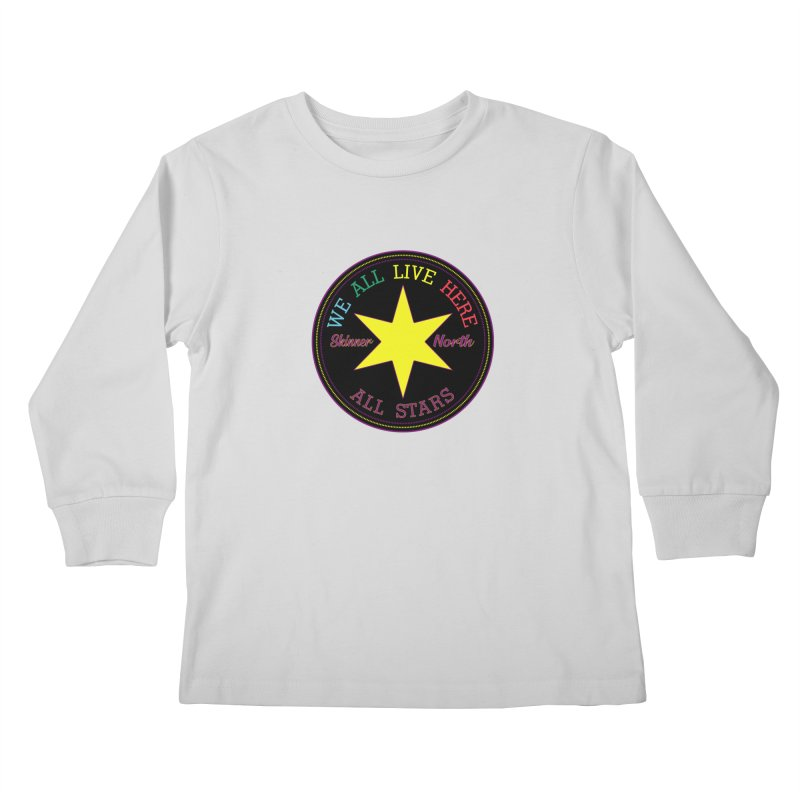 we all live here at Skinner North Kids Longsleeve T-Shirt by SuperStore