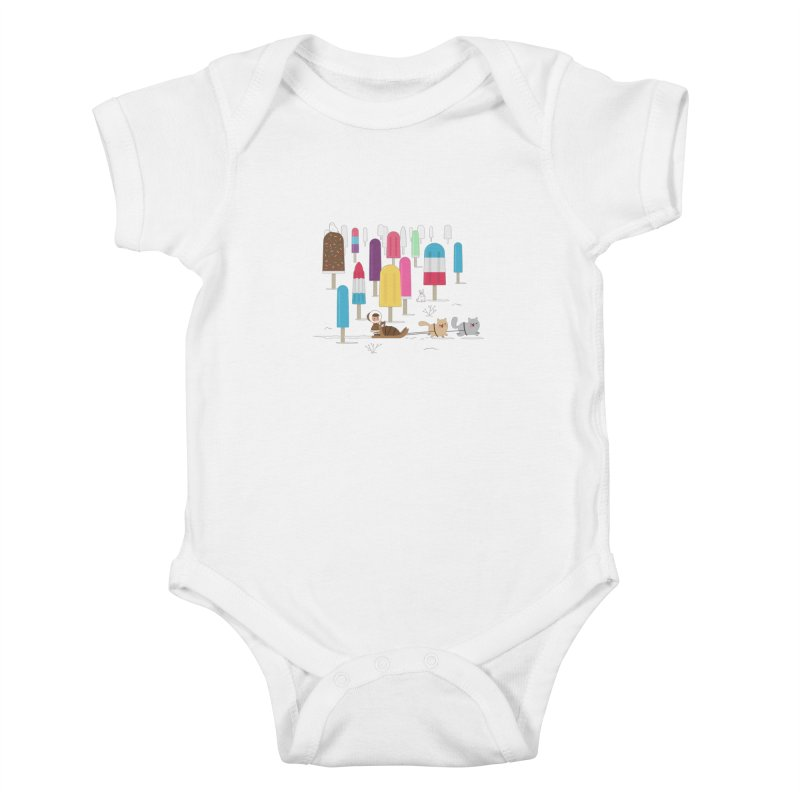 Icy Forest Kids Baby Bodysuit by skinnyandy's Artist Shop