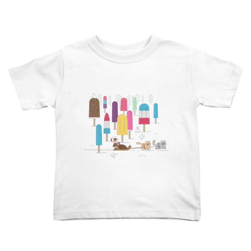 Icy Forest Kids Toddler T-Shirt by skinnyandy's Artist Shop