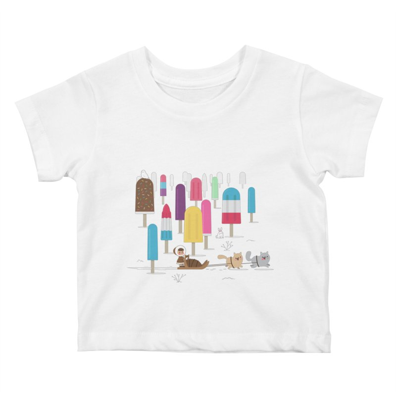 Icy Forest Kids Baby T-Shirt by skinnyandy's Artist Shop