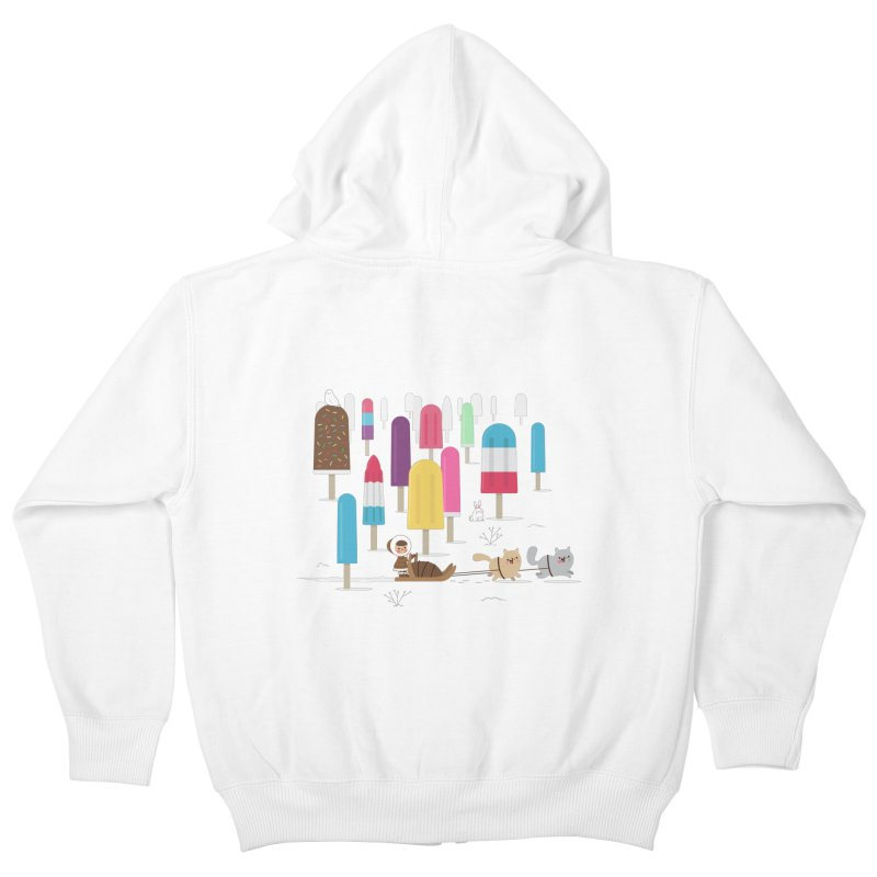 Icy Forest Kids Zip-Up Hoody by skinnyandy's Artist Shop