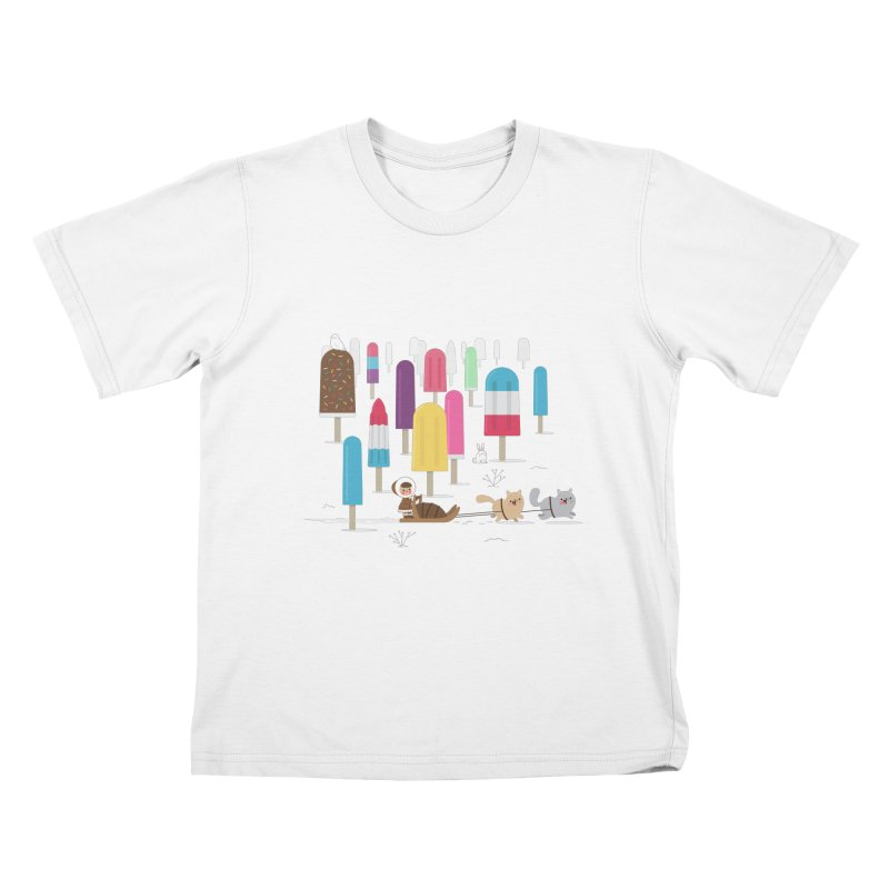 Icy Forest Kids T-shirt by skinnyandy's Artist Shop