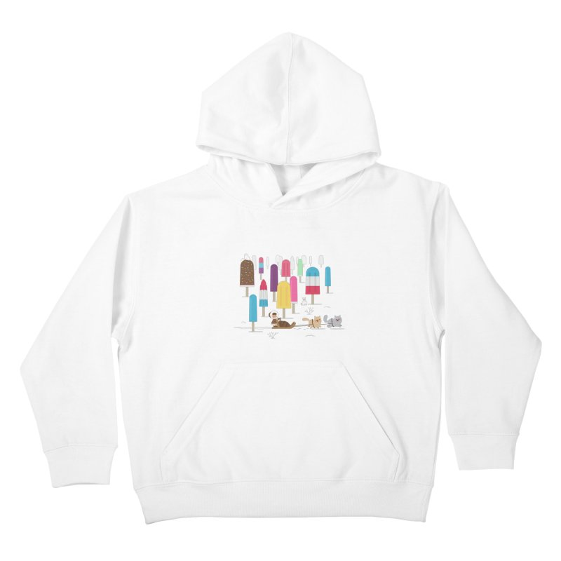 Icy Forest Kids Pullover Hoody by skinnyandy's Artist Shop