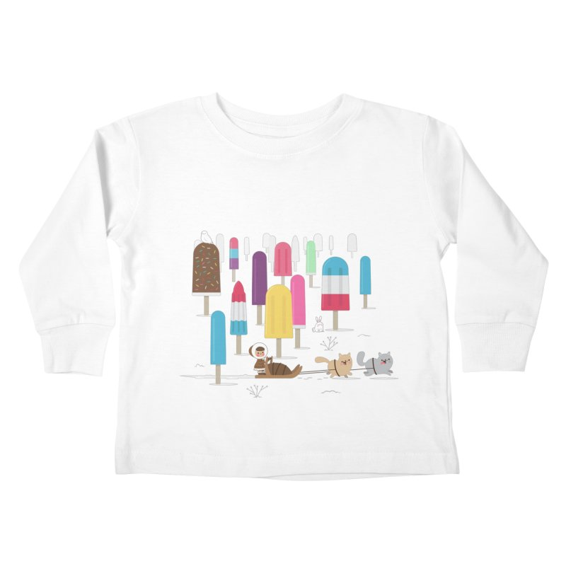 Icy Forest Kids Toddler Longsleeve T-Shirt by skinnyandy's Artist Shop