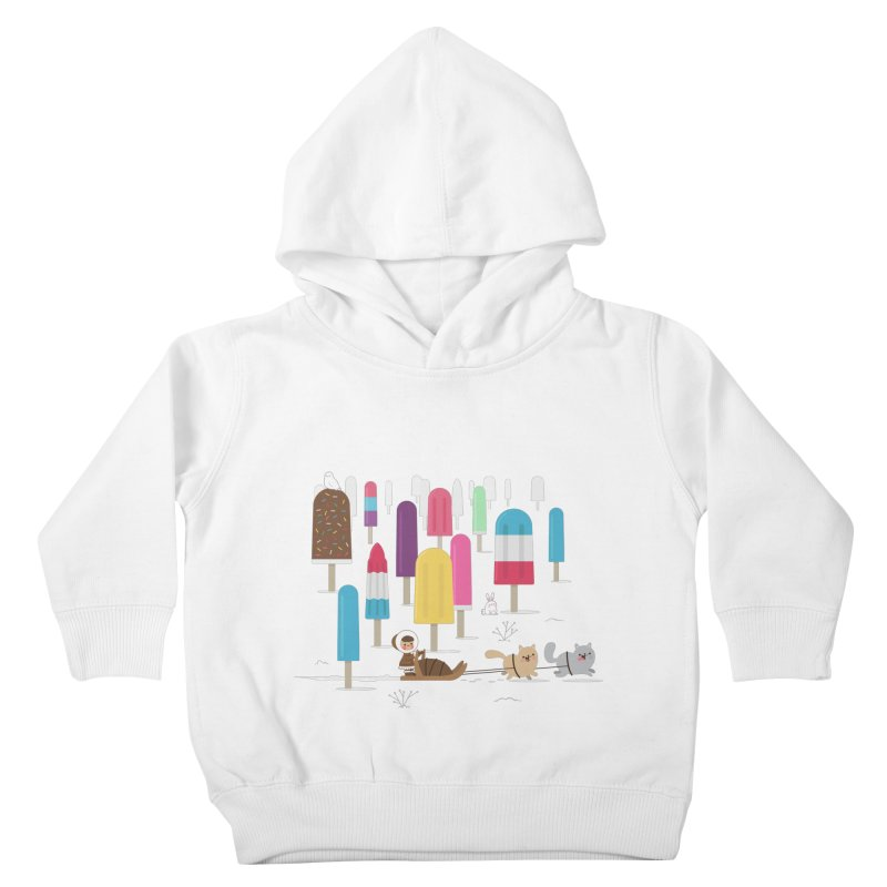 Icy Forest Kids Toddler Pullover Hoody by skinnyandy's Artist Shop