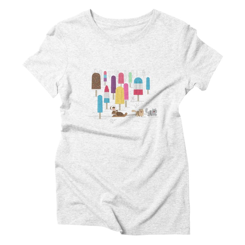 Icy Forest Women's Triblend T-shirt by skinnyandy's Artist Shop