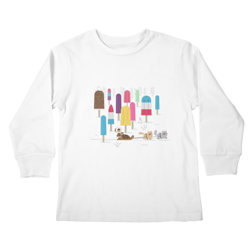 Icy Forest Kids Longsleeve T-Shirt by skinnyandy's Artist Shop