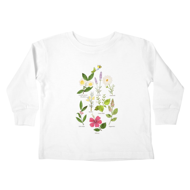 Tea Time Kids Toddler Longsleeve T-Shirt by skinnyandy's Artist Shop