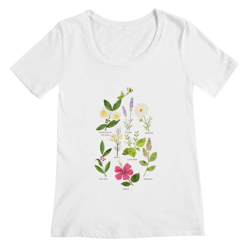 Tea Time Women's Scoopneck by skinnyandy's Artist Shop