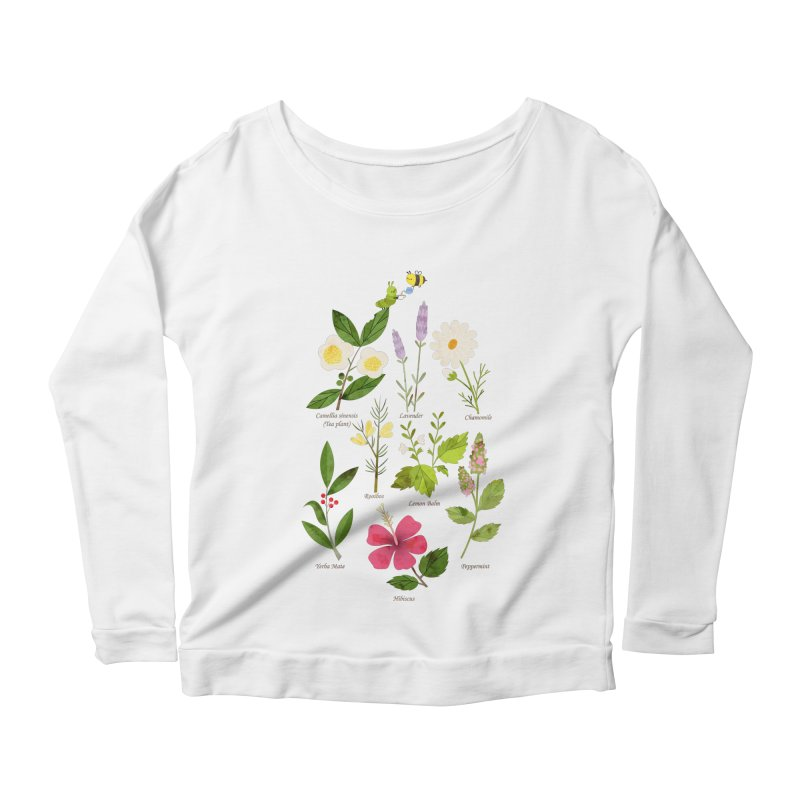 Tea Time Women's Longsleeve Scoopneck  by skinnyandy's Artist Shop