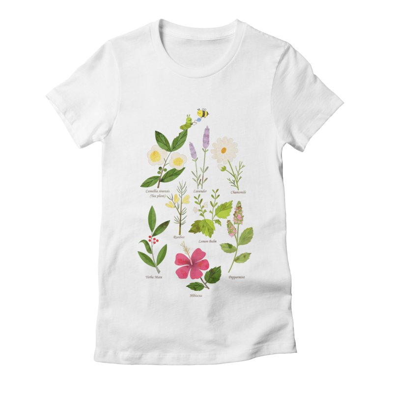 Tea Time Women's Fitted T-Shirt by skinnyandy's Artist Shop