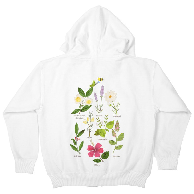 Tea Time Kids Zip-Up Hoody by skinnyandy's Artist Shop