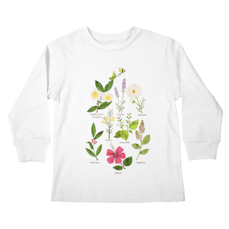 Tea Time Kids Longsleeve T-Shirt by skinnyandy's Artist Shop