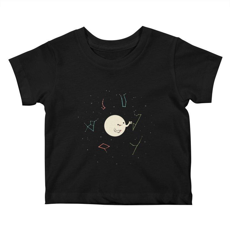 Drawing the Constellations Kids Baby T-Shirt by skinnyandy's Artist Shop