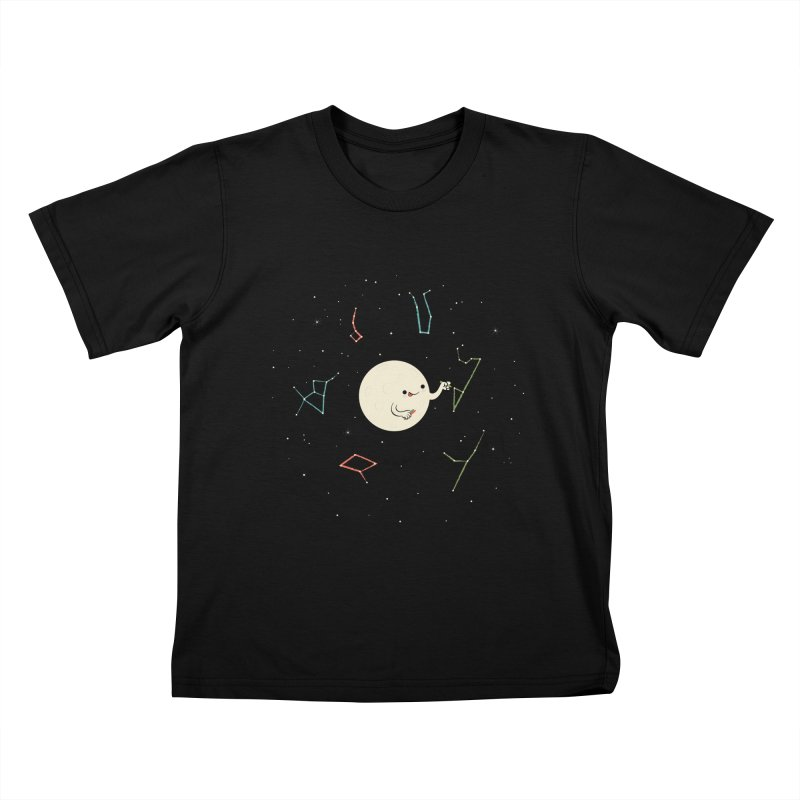 Drawing the Constellations Kids T-shirt by skinnyandy's Artist Shop
