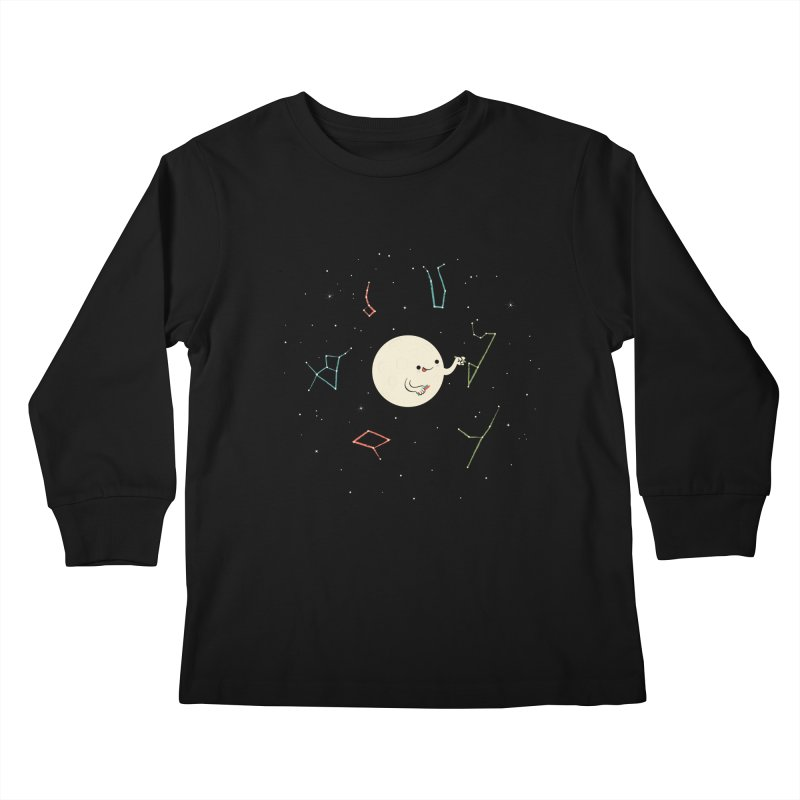 Drawing the Constellations Kids Longsleeve T-Shirt by skinnyandy's Artist Shop