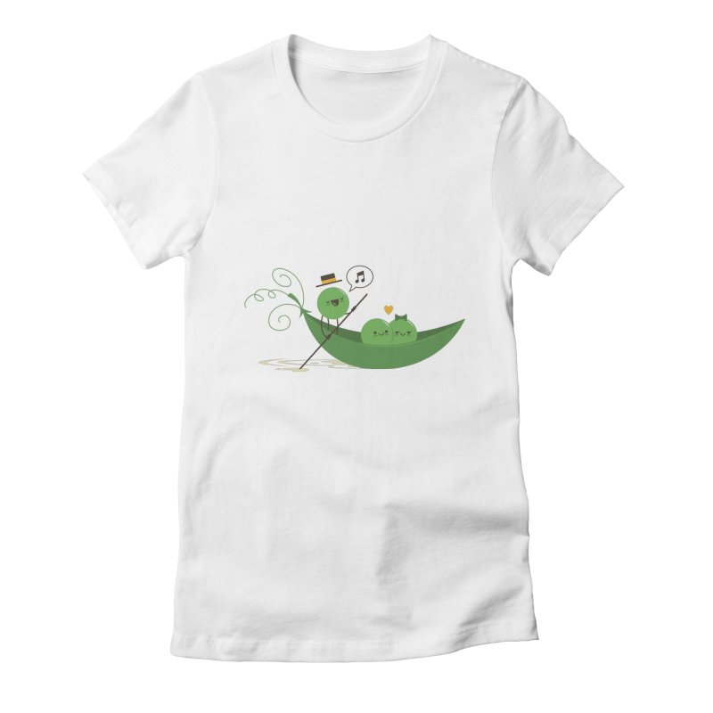 Gondola Ride Women's Fitted T-Shirt by skinnyandy's Artist Shop
