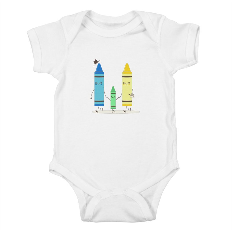 Color Theory Kids Baby Bodysuit by skinnyandy's Artist Shop