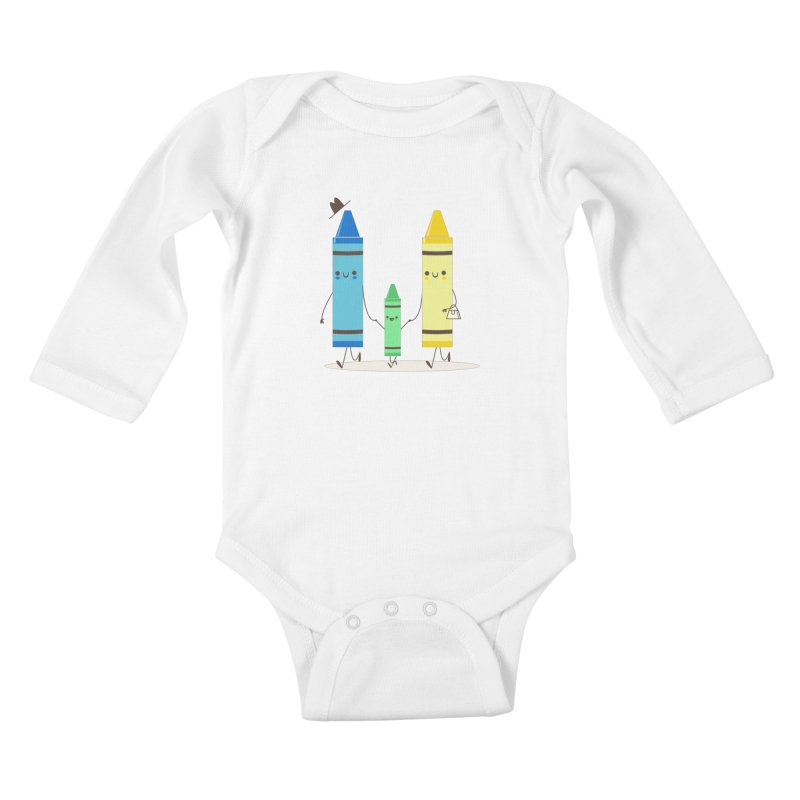 Color Theory Kids Baby Longsleeve Bodysuit by skinnyandy's Artist Shop
