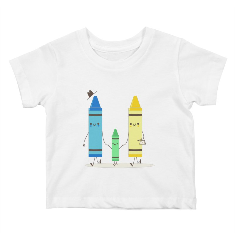 Color Theory Kids Baby T-Shirt by skinnyandy's Artist Shop