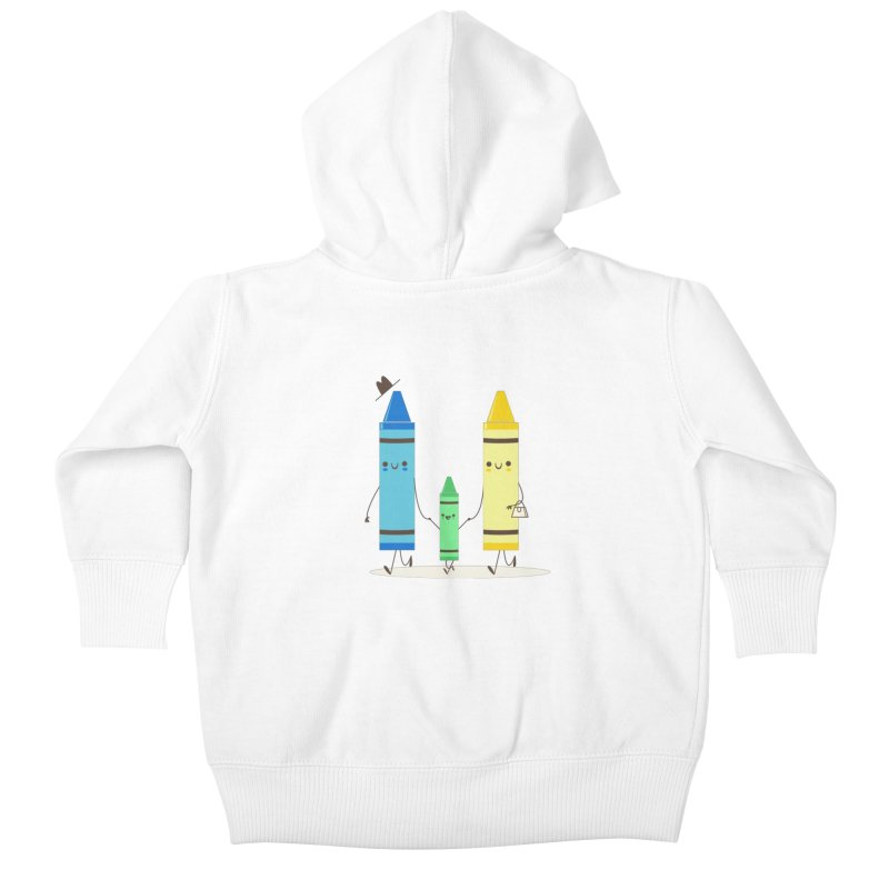 Color Theory Kids Baby Zip-Up Hoody by skinnyandy's Artist Shop