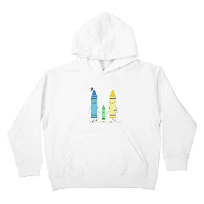 Color Theory Kids Pullover Hoody by skinnyandy's Artist Shop