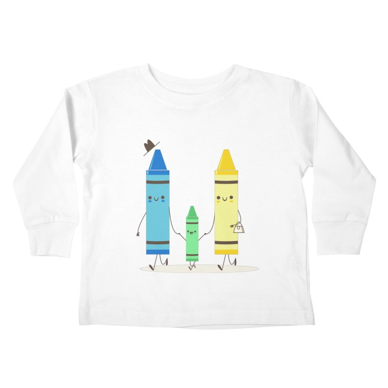 Color Theory Kids Toddler Longsleeve T-Shirt by skinnyandy's Artist Shop