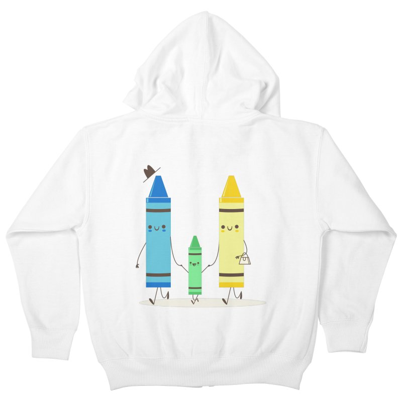 Color Theory Kids Zip-Up Hoody by skinnyandy's Artist Shop