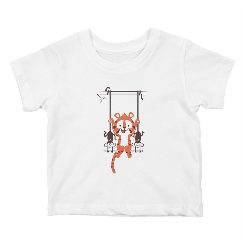 Monkey Swing Kids Baby T-Shirt by skinnyandy's Artist Shop