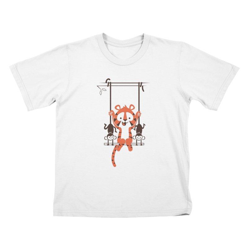 Monkey Swing Kids T-shirt by skinnyandy's Artist Shop