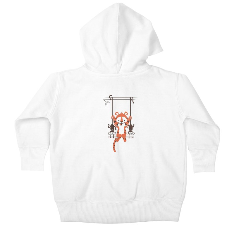 Monkey Swing Kids Baby Zip-Up Hoody by skinnyandy's Artist Shop