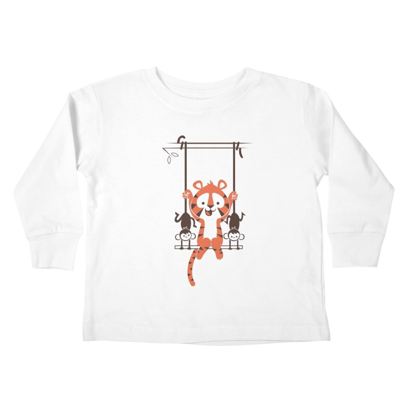 Monkey Swing Kids Toddler Longsleeve T-Shirt by skinnyandy's Artist Shop