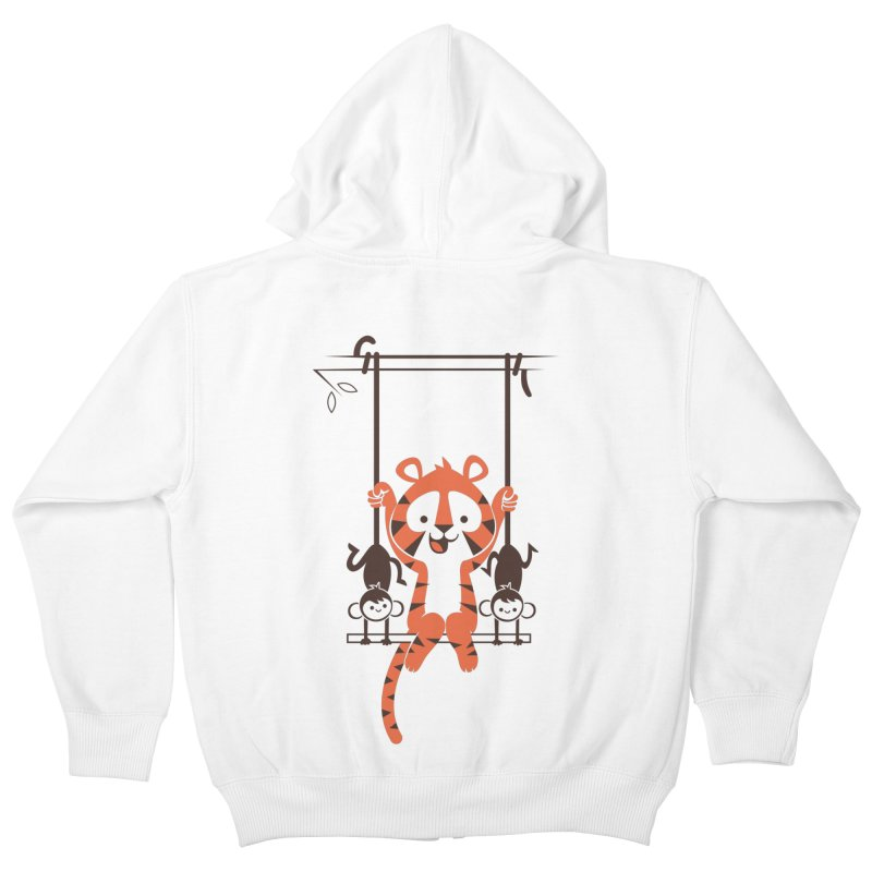 Monkey Swing Kids Zip-Up Hoody by skinnyandy's Artist Shop