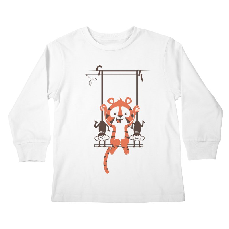 Monkey Swing Kids Longsleeve T-Shirt by skinnyandy's Artist Shop