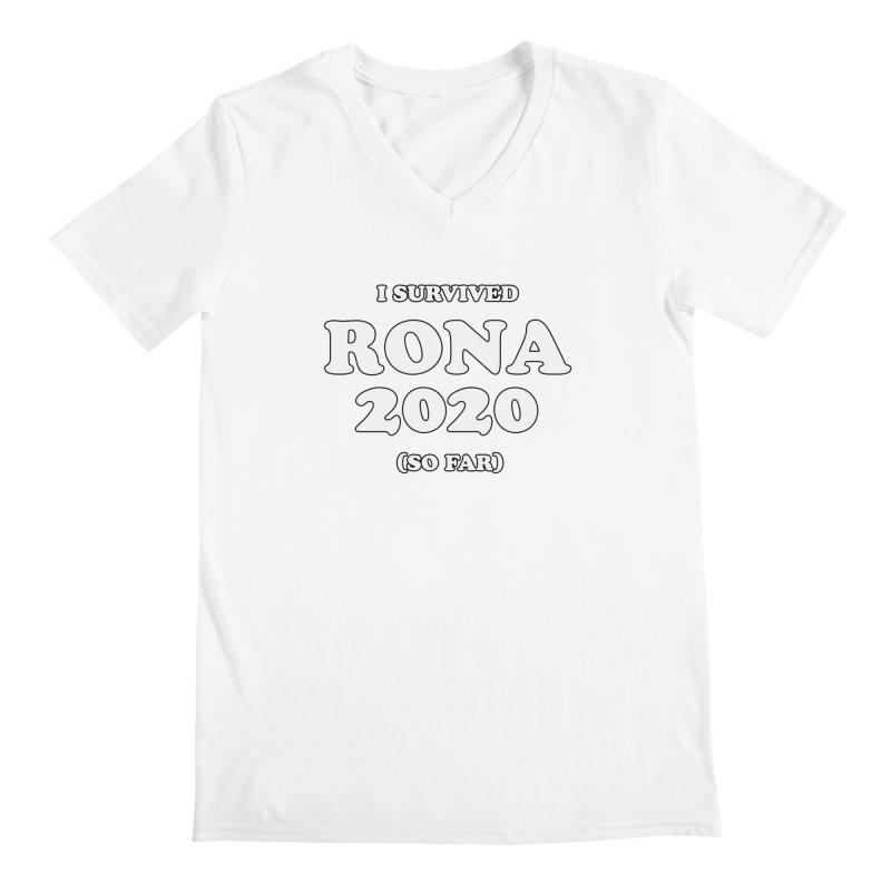 I Survived RONA 2020 Men's V-Neck by Skippy Fantastic's Pop Culture Emporium