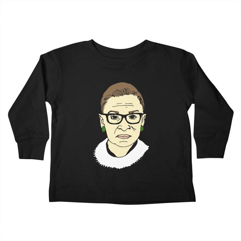 The Notorious RBG Kids Toddler Longsleeve T-Shirt by Skippy Fantastic's Pop Culture Emporium