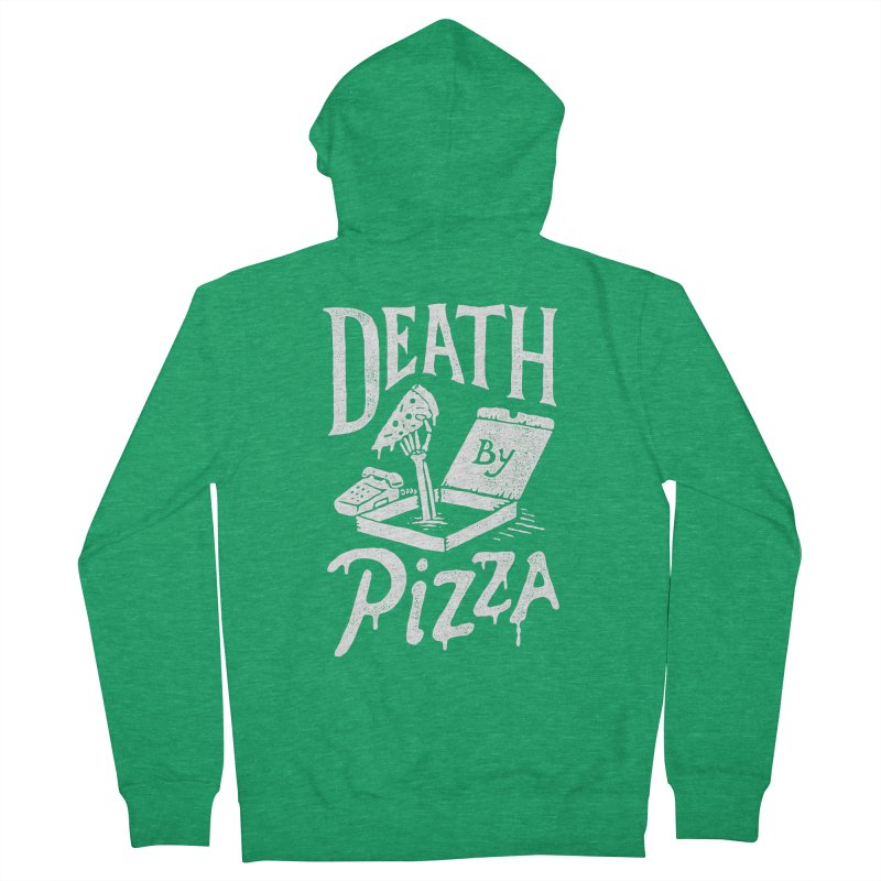 Death By Pizza Women's Zip-Up Hoody by Tatak Waskitho