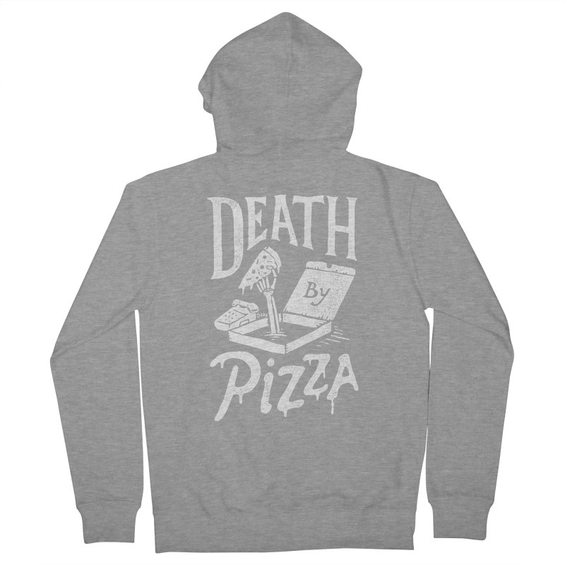 Death By Pizza Women's Zip-Up Hoody by skitchism's Artist Shop