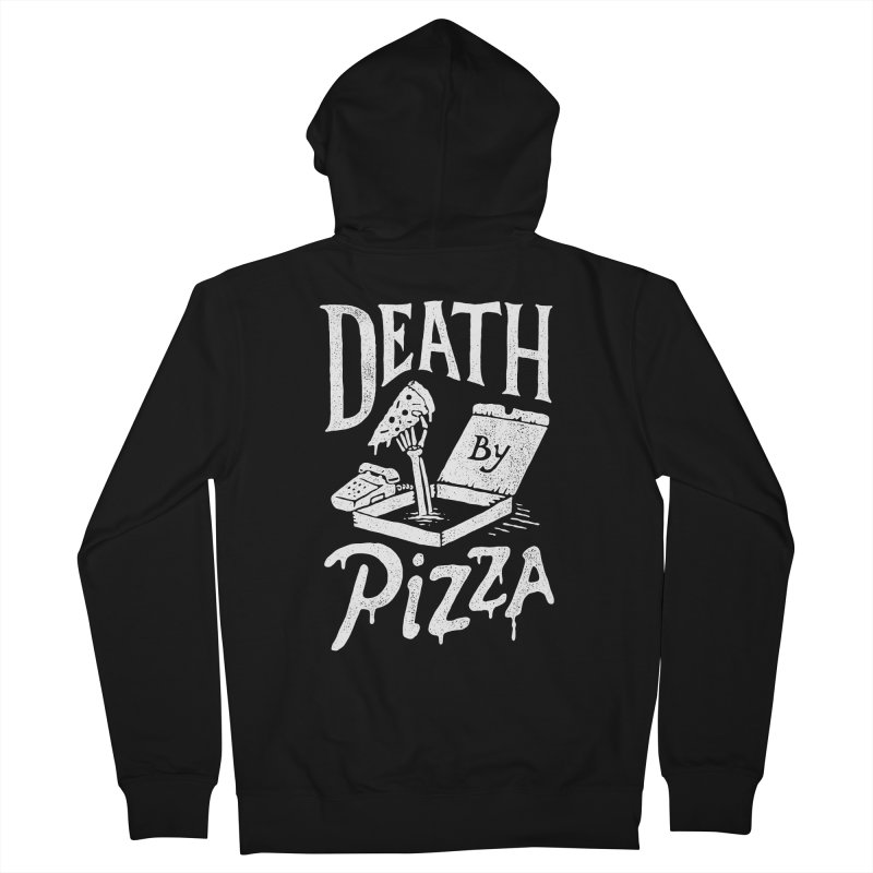 Death By Pizza Men's Zip-Up Hoody by skitchism's Artist Shop