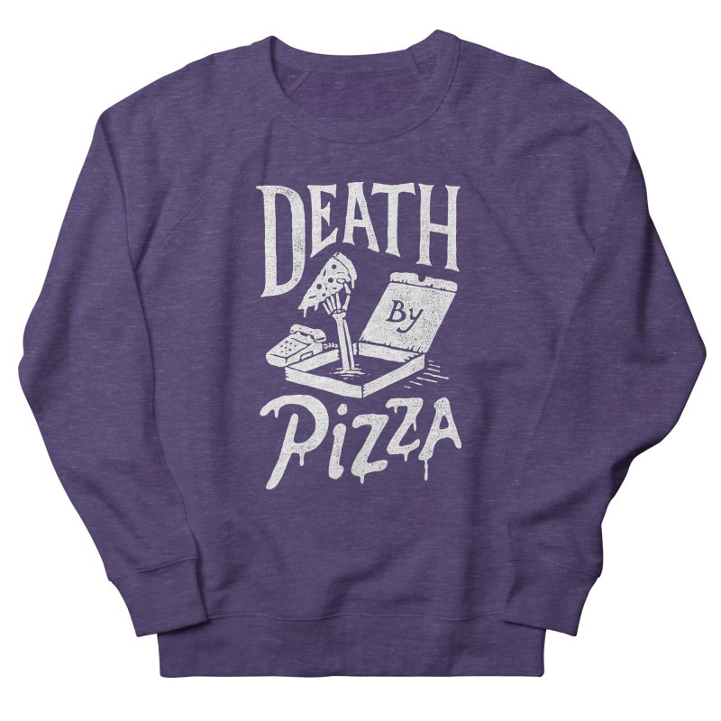 Death By Pizza Women's Sweatshirt by skitchism's Artist Shop