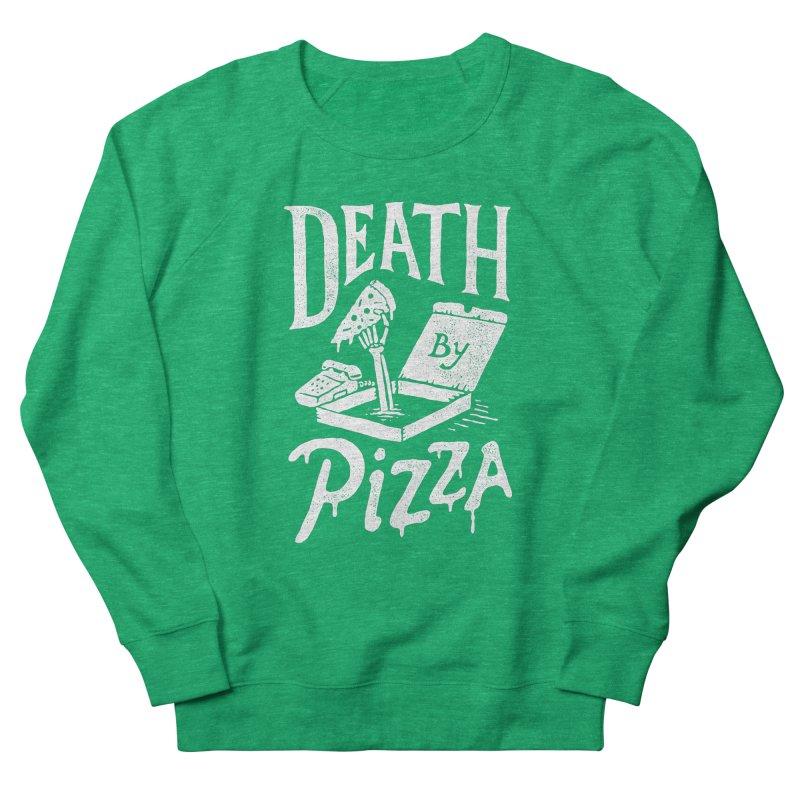 Death By Pizza Men's Sweatshirt by skitchism's Artist Shop