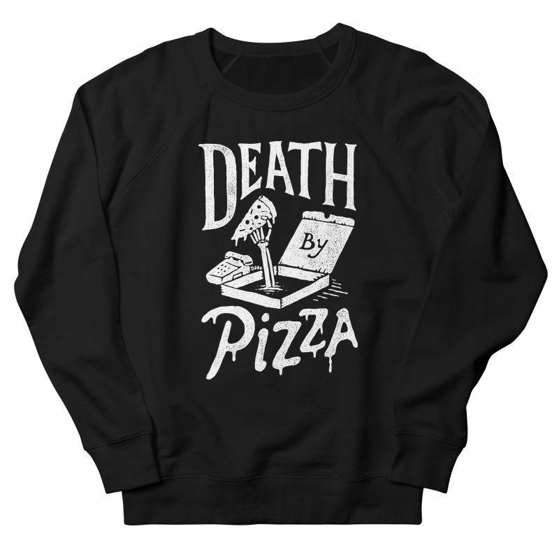 Death By Pizza Men's Sweatshirt by skitchism's Artist Shop