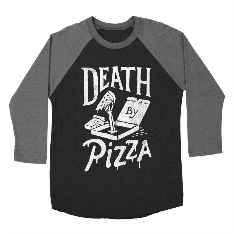 Death By Pizza Women's Baseball Triblend T-Shirt by skitchism's Artist Shop