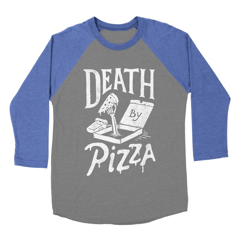 Death By Pizza Men's Baseball Triblend T-Shirt by skitchism's Artist Shop