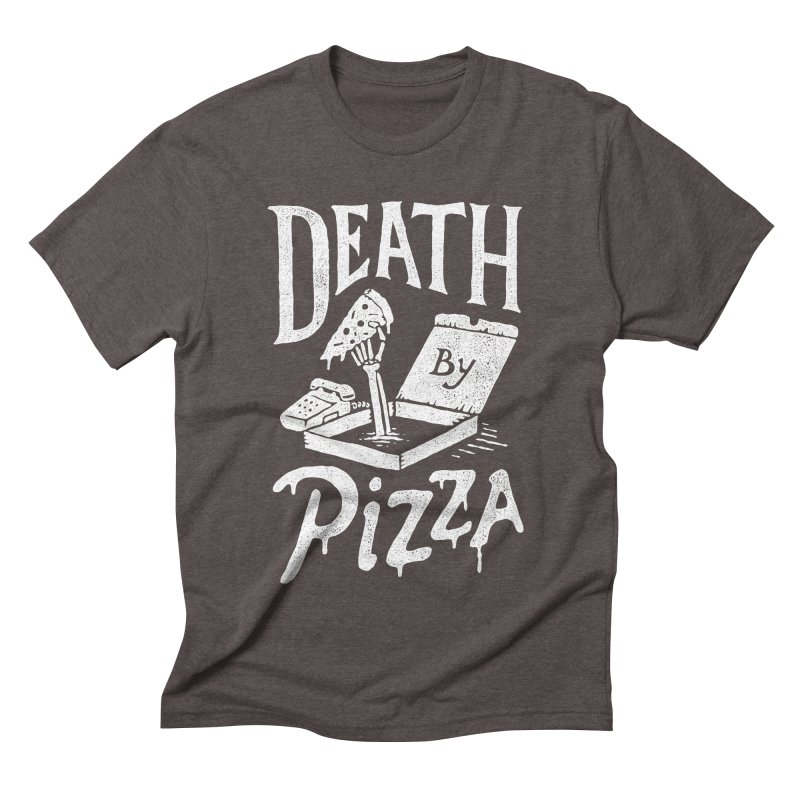 Death By Pizza Men's Triblend T-shirt by skitchism's Artist Shop