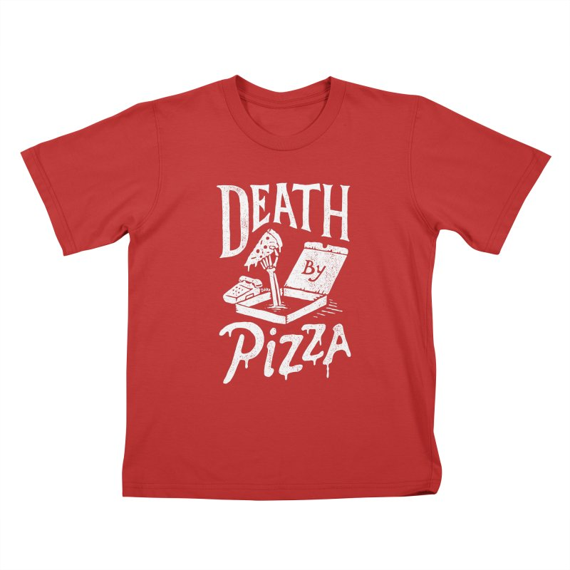 Death By Pizza Kids T-shirt by skitchism's Artist Shop