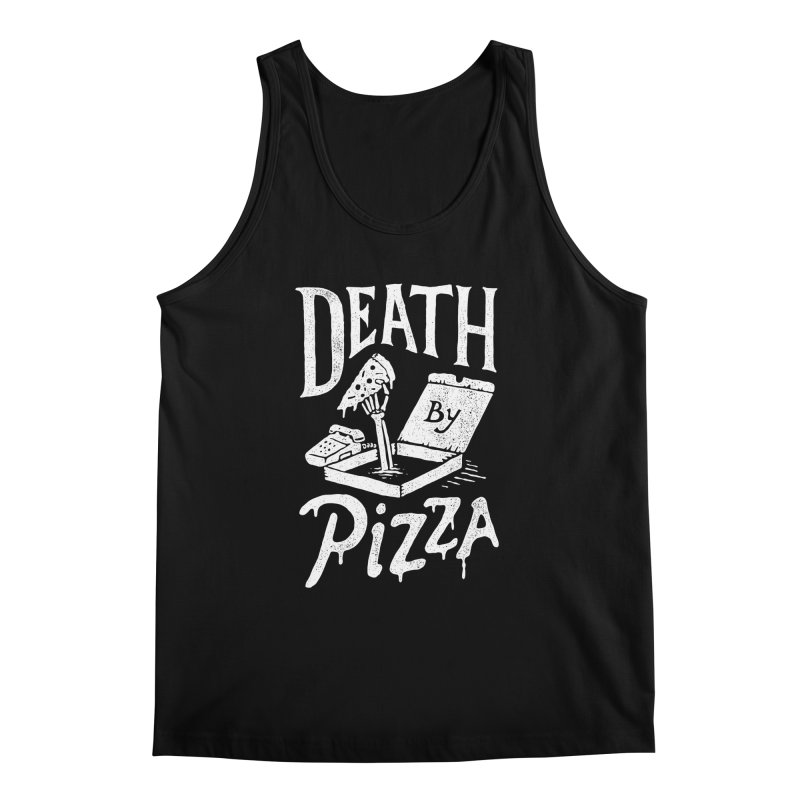 Death By Pizza Men's Tank by skitchism's Artist Shop