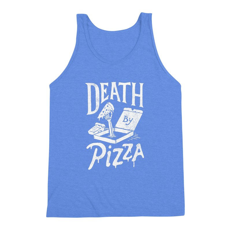 Death By Pizza Men's Triblend Tank by skitchism's Artist Shop